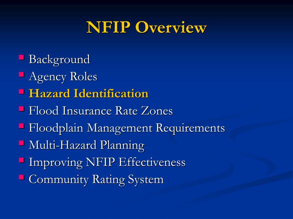 NFIP Overview