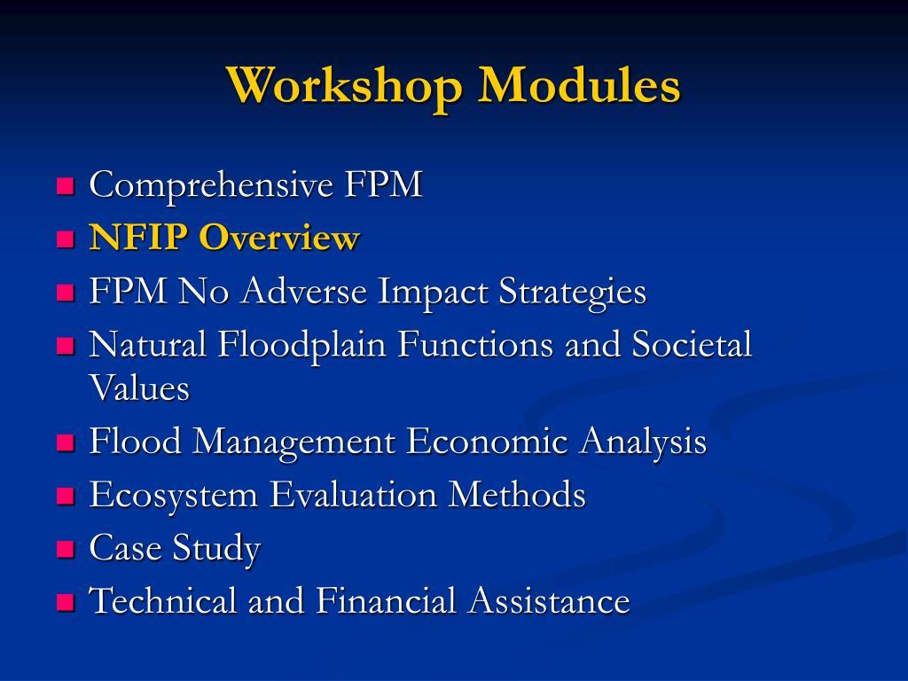 Workshop Modules