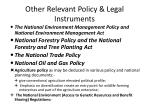 other relevant policy legal instruments
