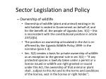 sector legislation and policy