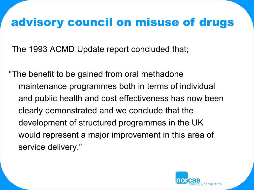 advisory council on misuse of drugs