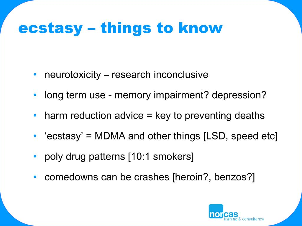 ecstasy – things to know