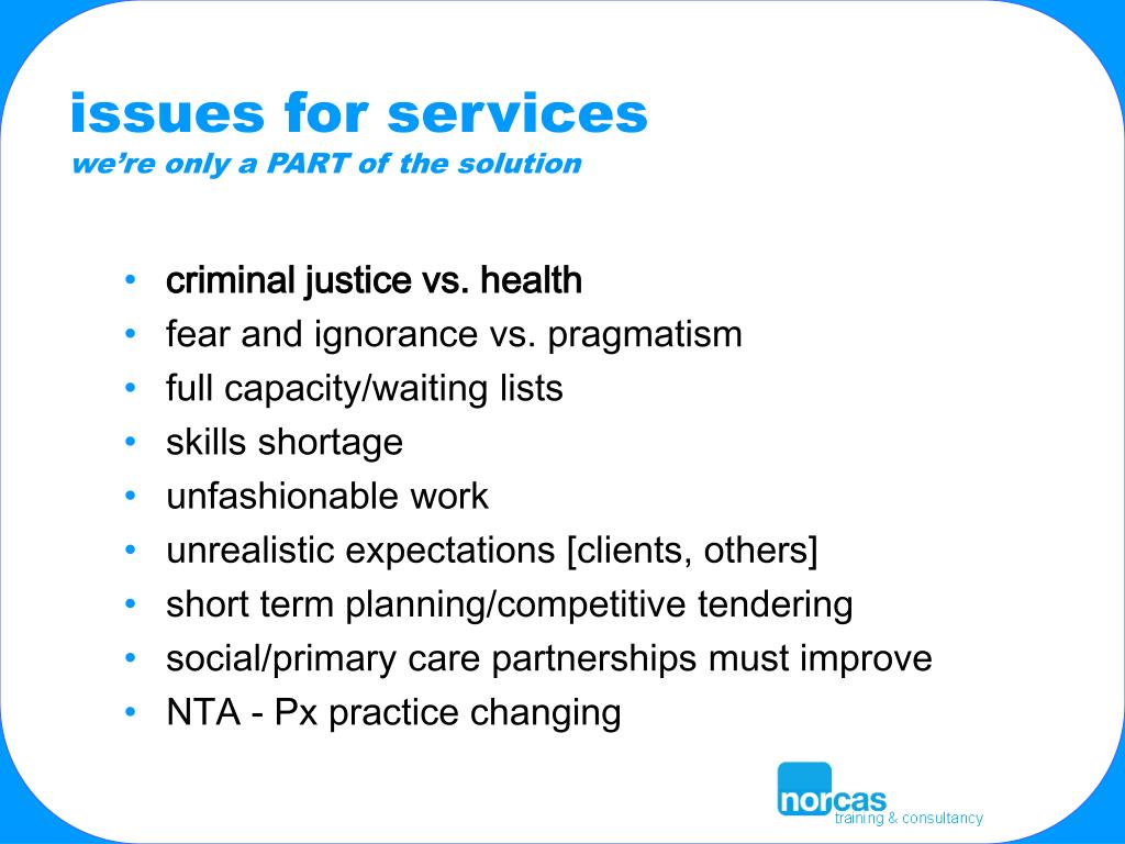 issues for services