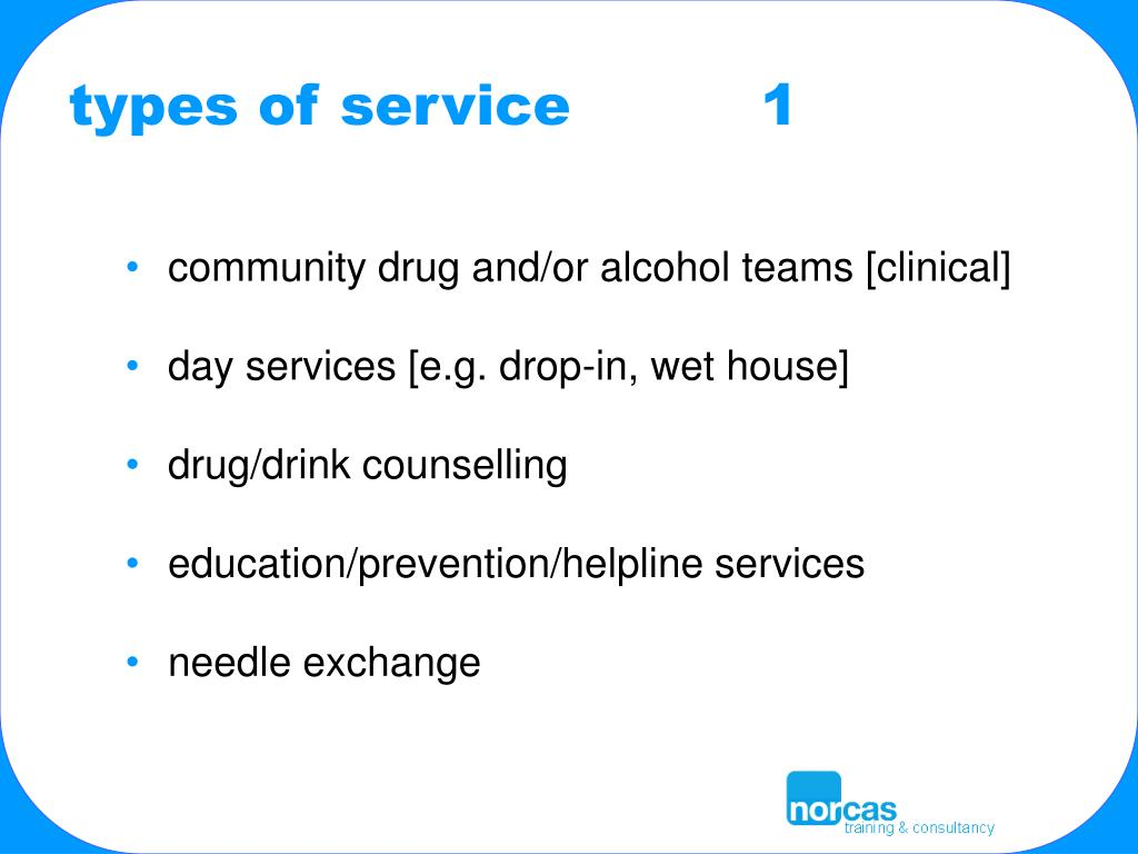 types of service          1