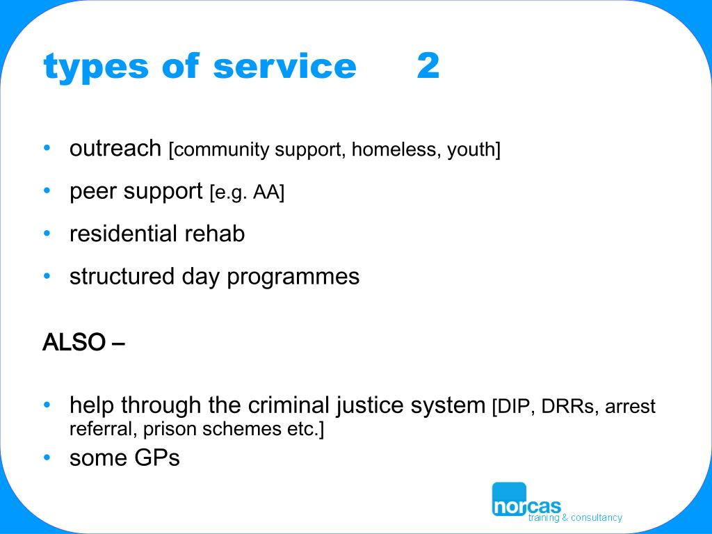 types of service     2