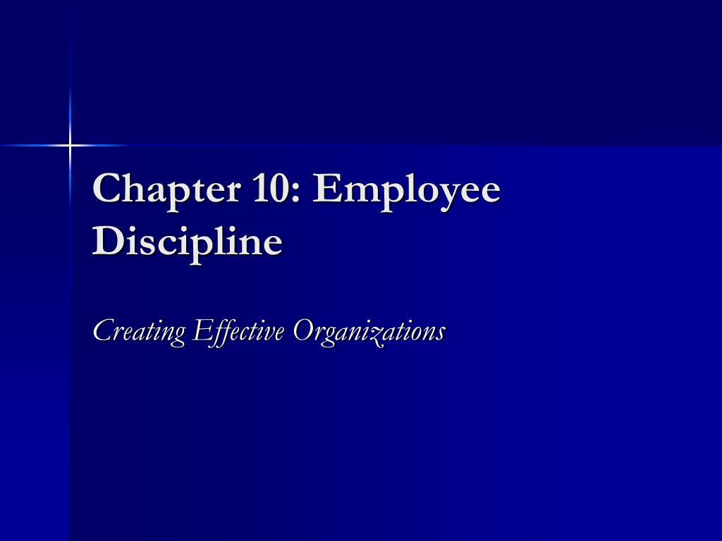 chapter 10 employee discipline l.