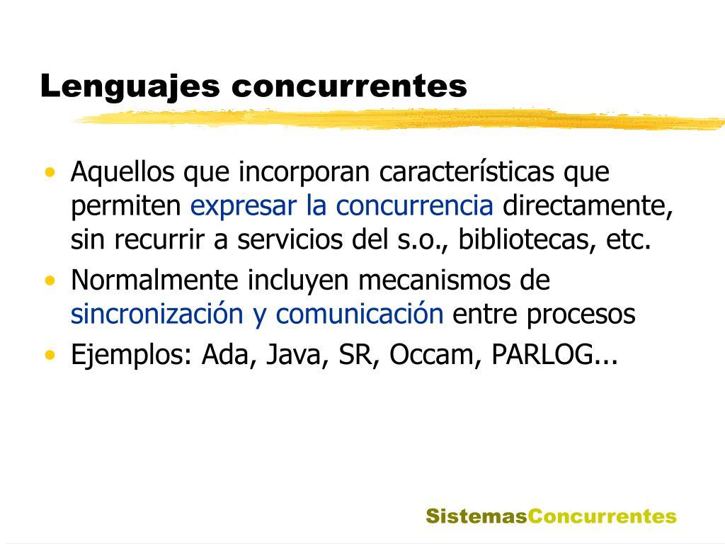 Lenguajes concurrentes