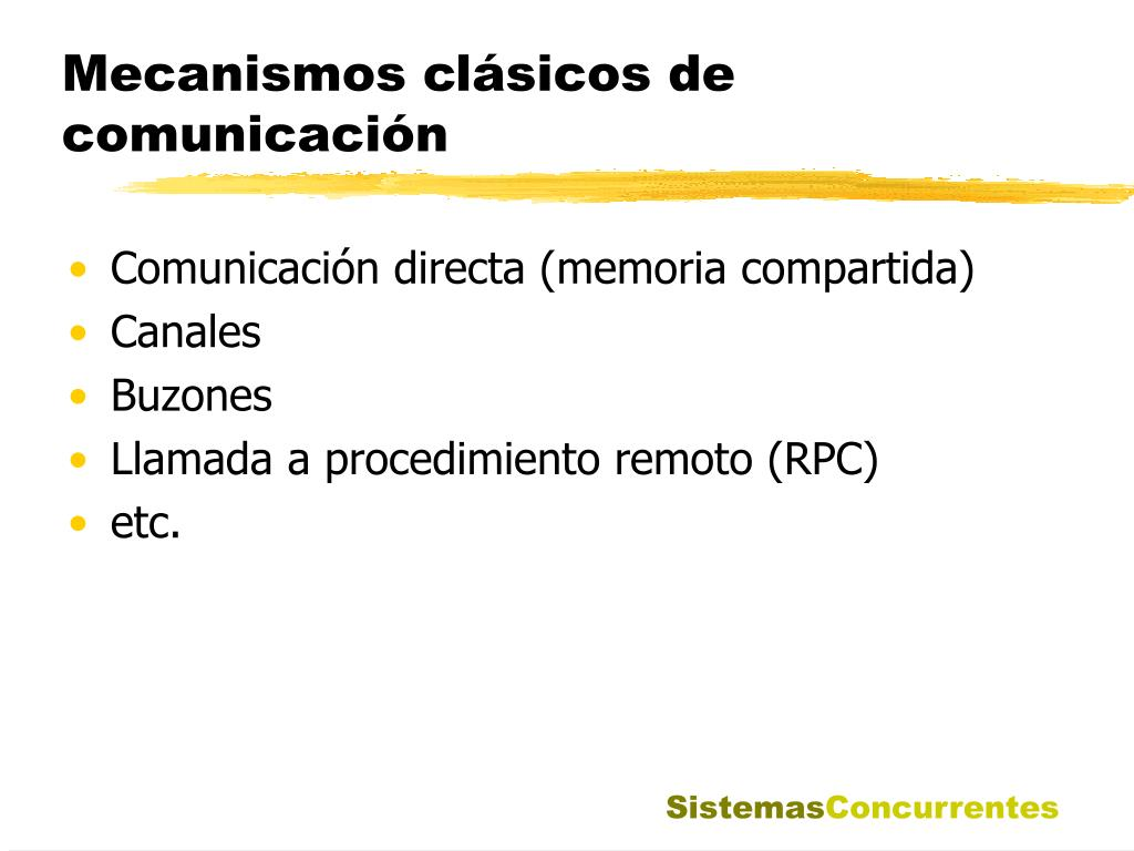 Mecanismos clásicos de comunicación