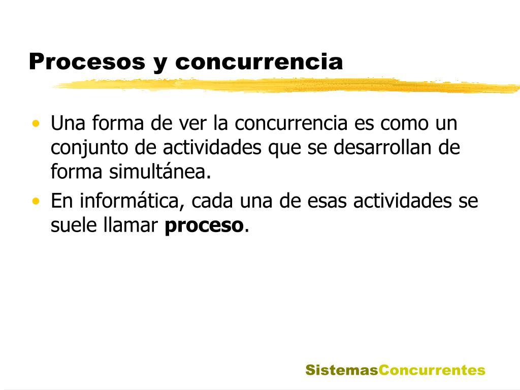 Procesos y concurrencia
