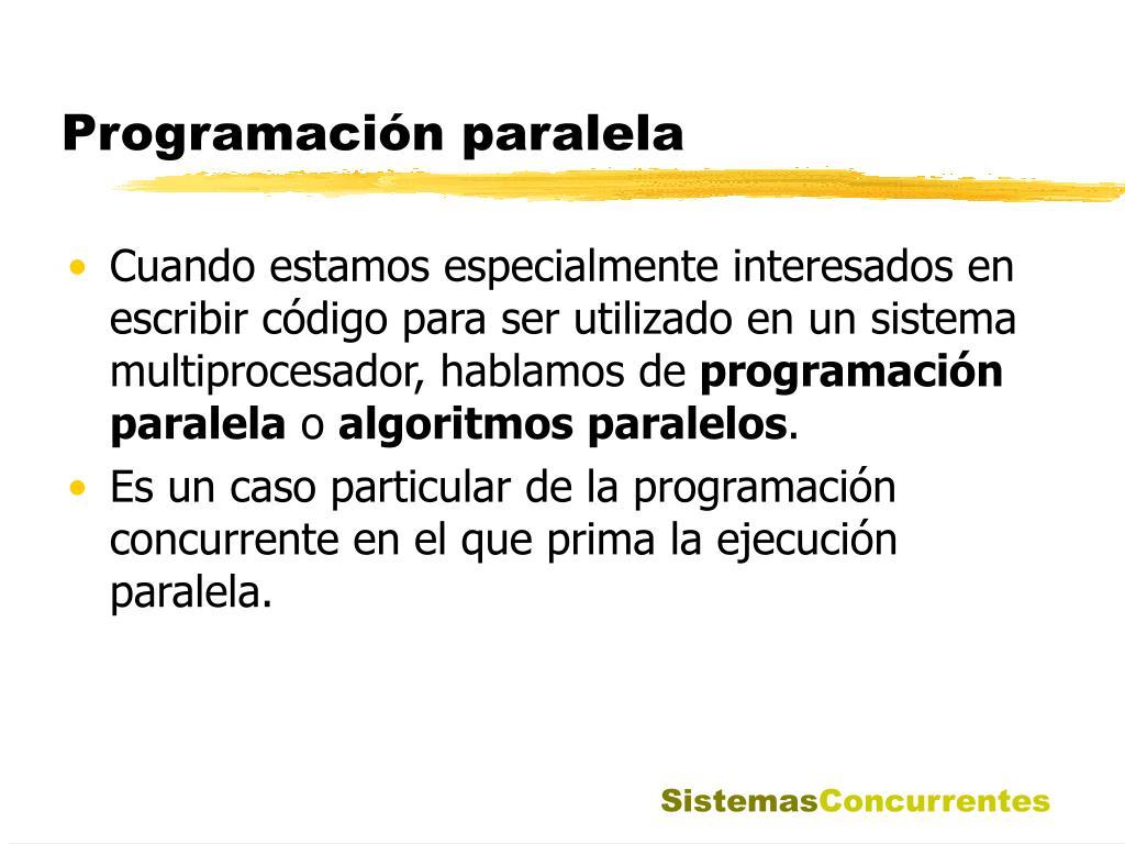 Programación paralela