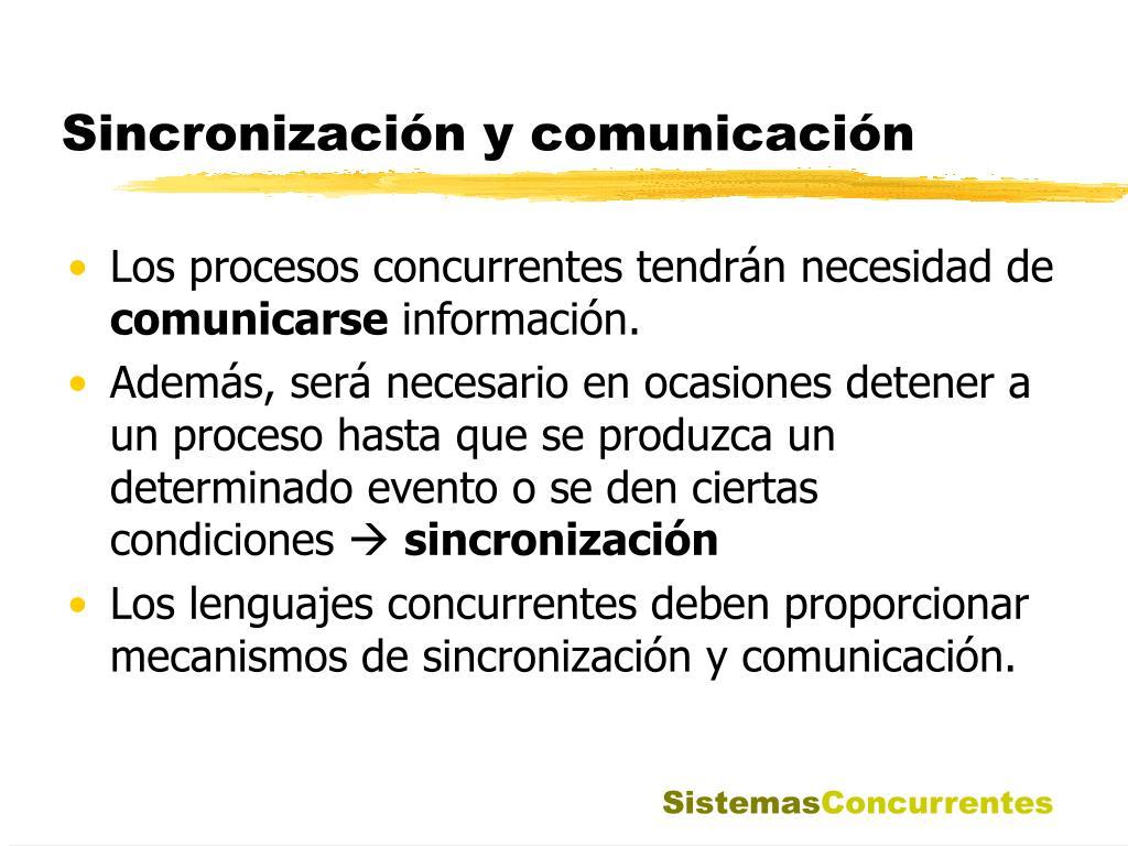 Sincronización y comunicación
