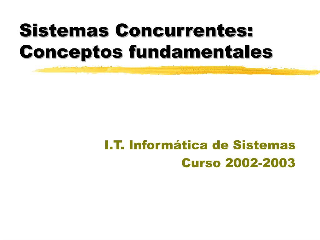 Sistemas Concurrentes: