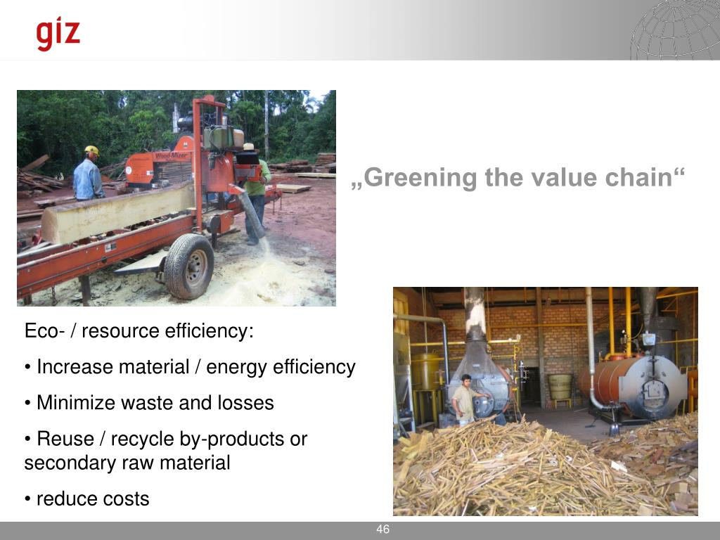 """Greening the value chain"""