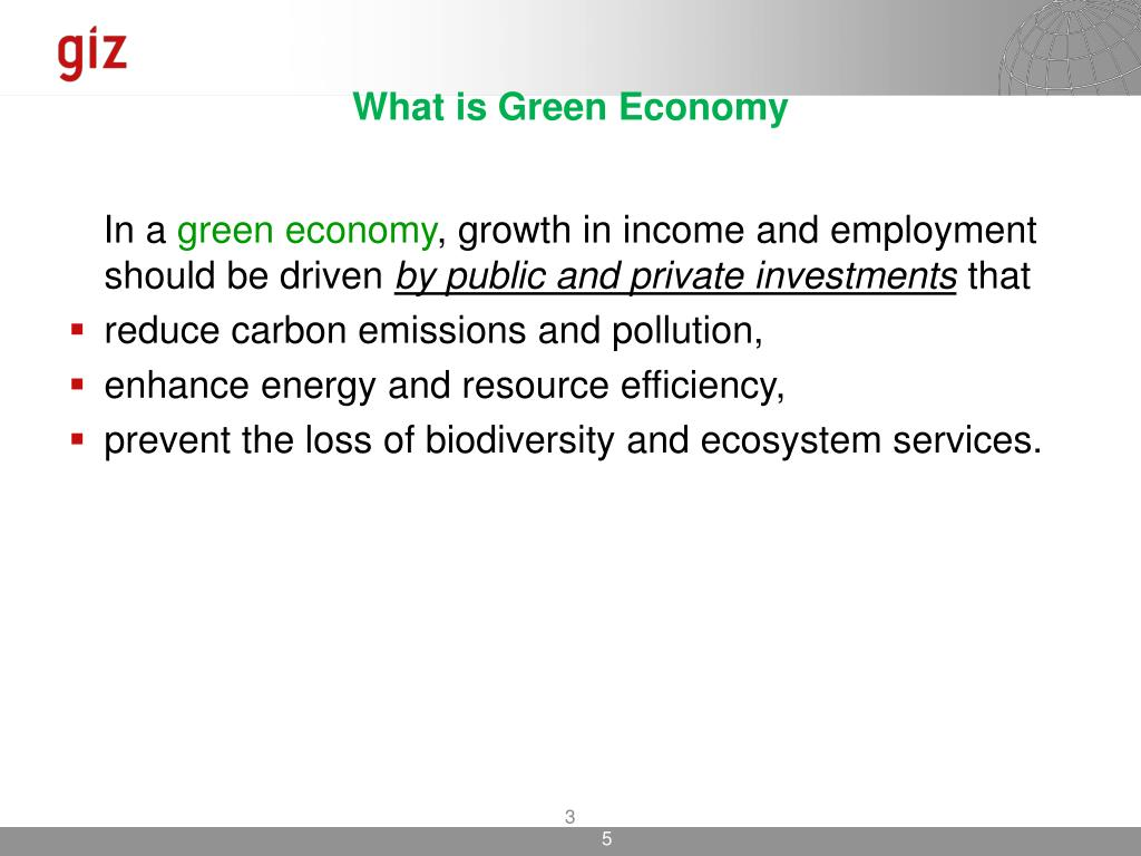 What is Green Economy