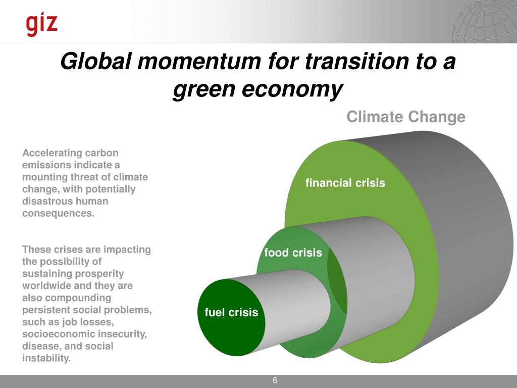 Global momentum for transition to a green economy