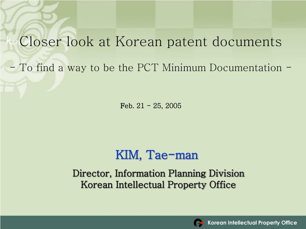 Closer look at Korean patent documents