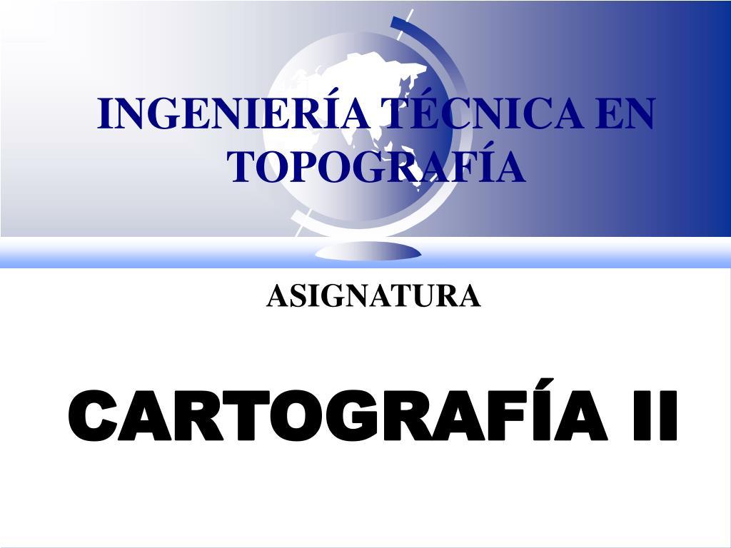 ingenier a t cnica en topograf a l.
