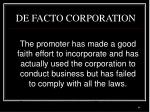 de facto corporation