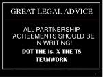 great legal advice