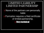 limited liability limited partnership