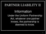 partner liability ii