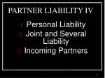 partner liability iv