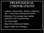 professional corporations