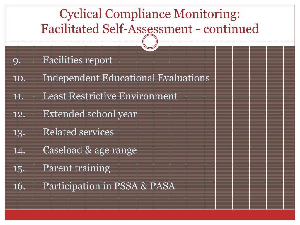 Cyclical Compliance Monitoring: