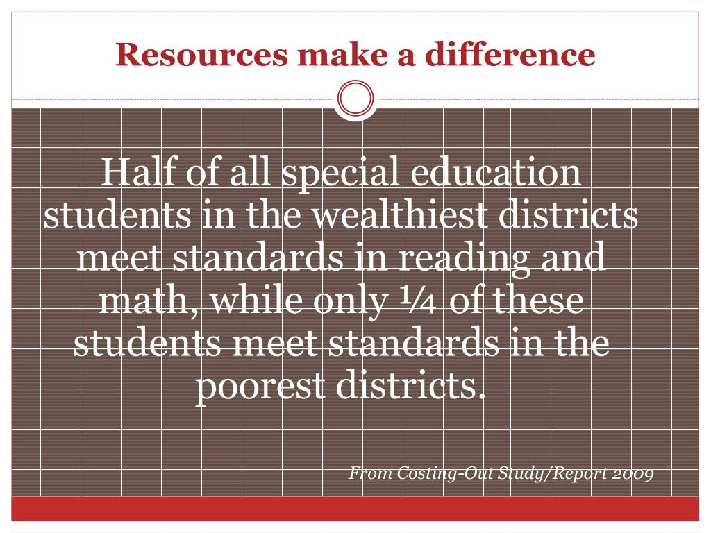 Resources make a difference
