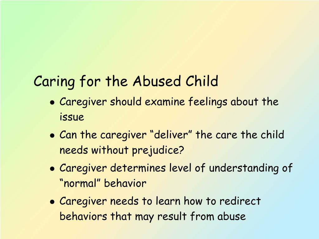 Caring for the Abused Child