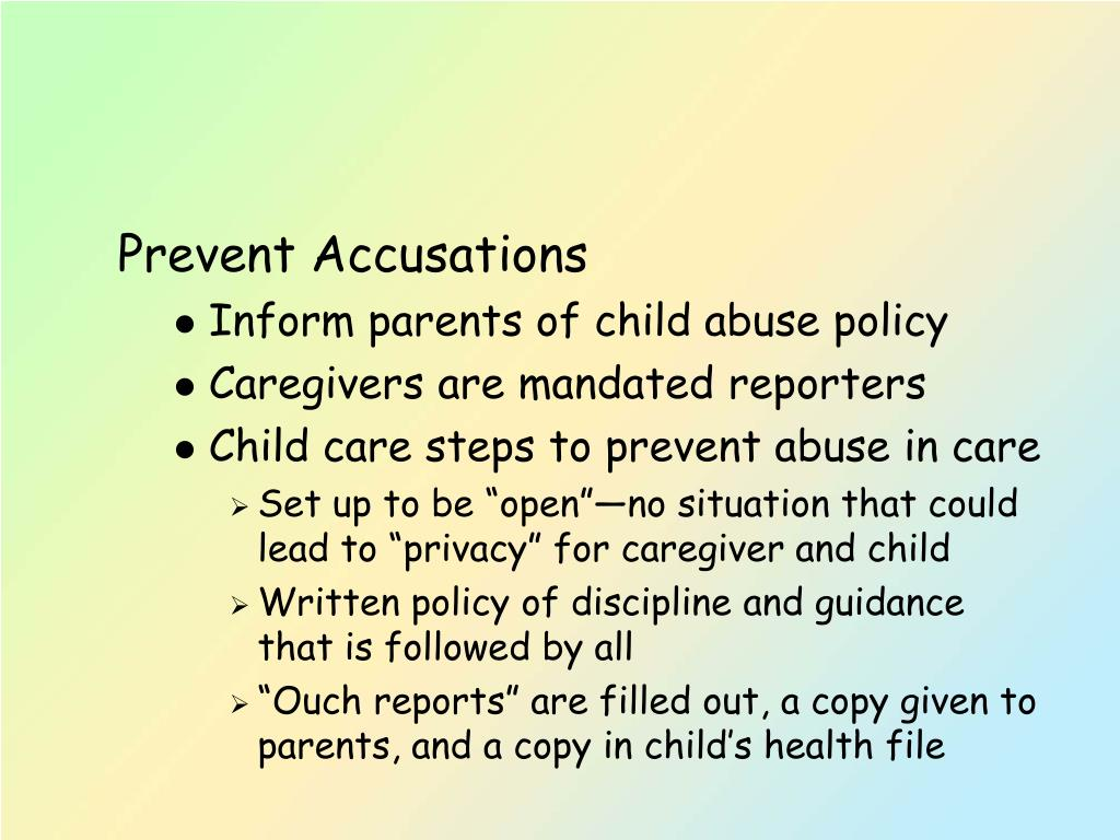 Prevent Accusations