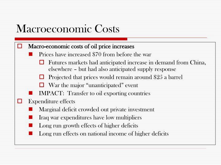 Macroeconomic Costs