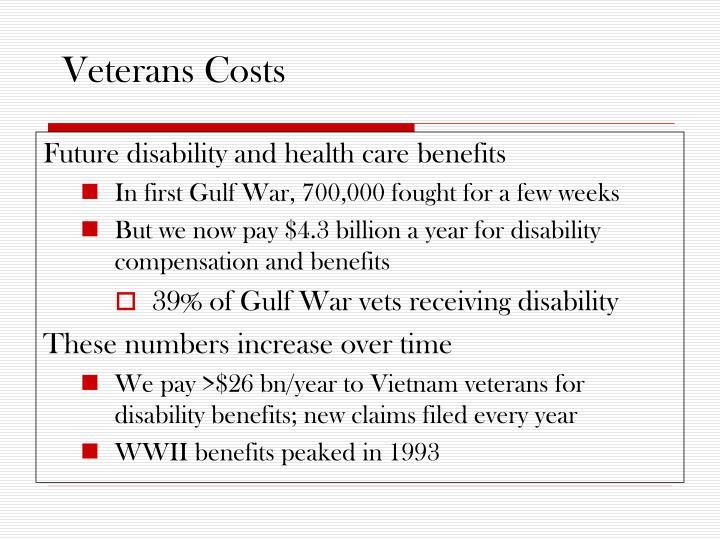 Veterans Costs