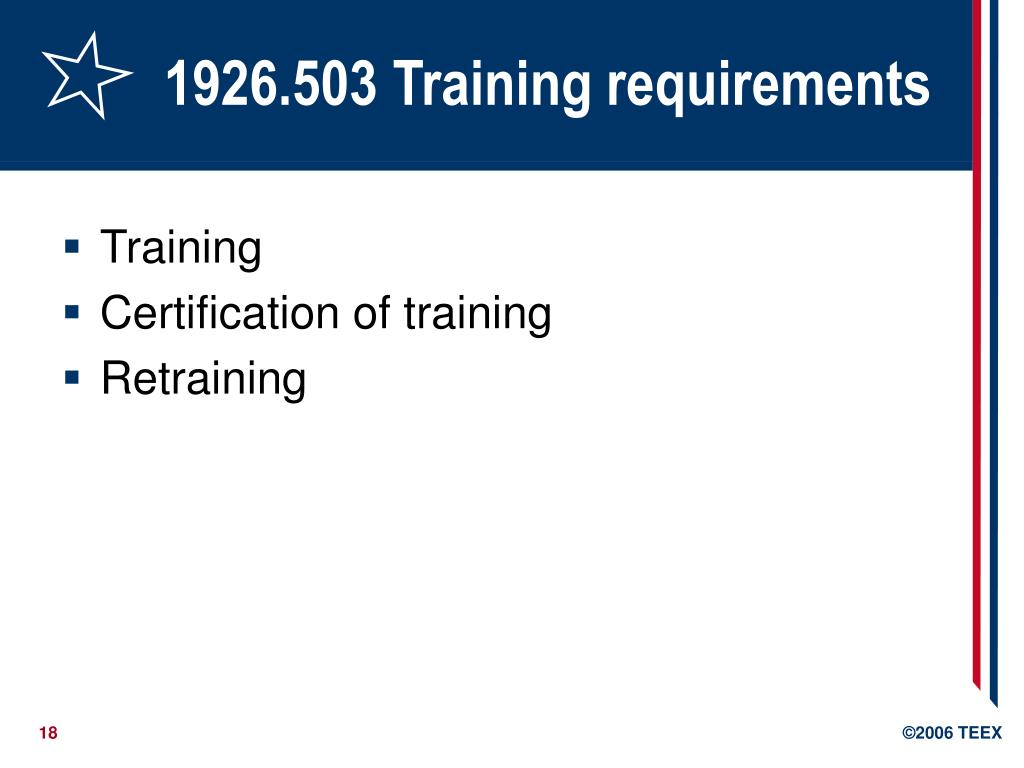 1926.503 Training requirements