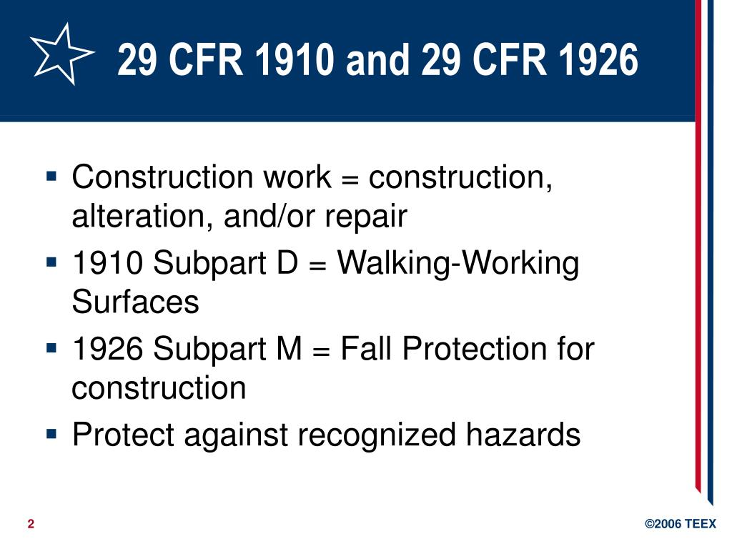 Ppt Walking Working Surfaces And Fall Protection