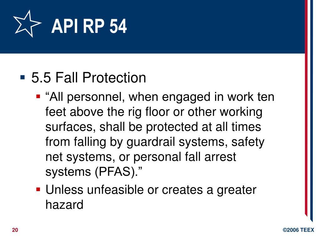 API RP 54