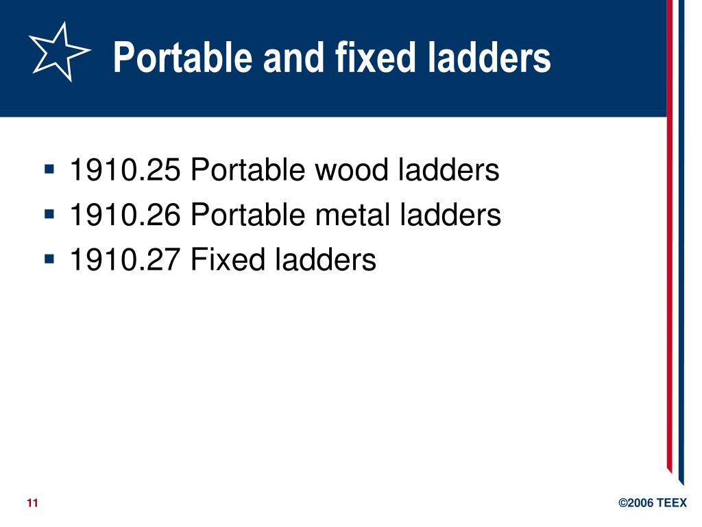 Portable and fixed ladders