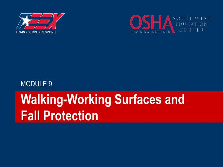 Walking working surfaces and fall protection