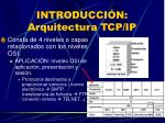 introducci n arquitectura tcp ip
