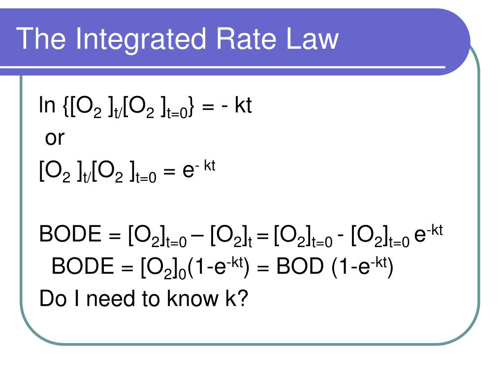 The Integrated Rate Law