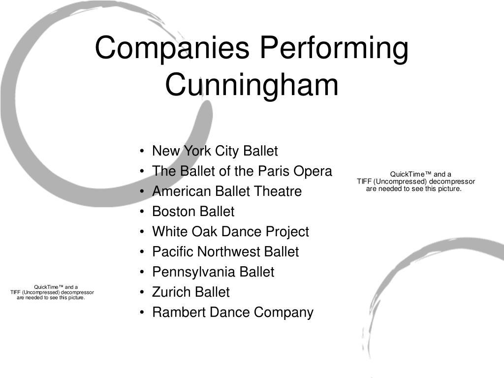 Companies Performing Cunningham