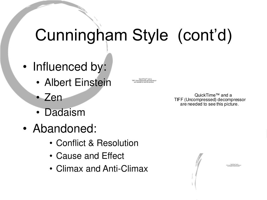 Cunningham Style  (cont'd)