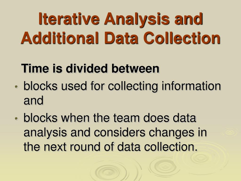 Iterative Analysis and Additional Data Collection