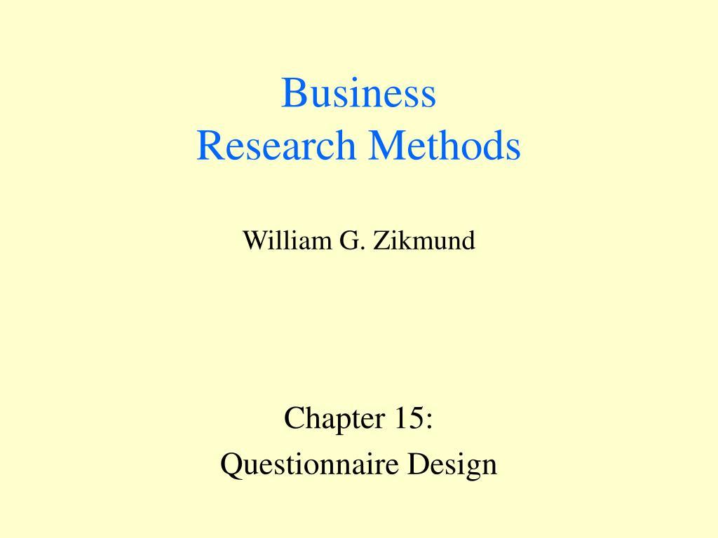 business research methods william g zikmund