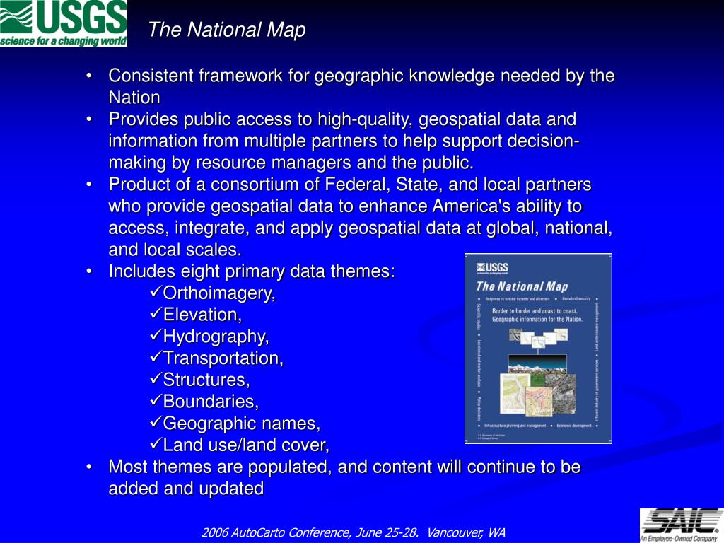 Consistent framework for geographic knowledge needed by the