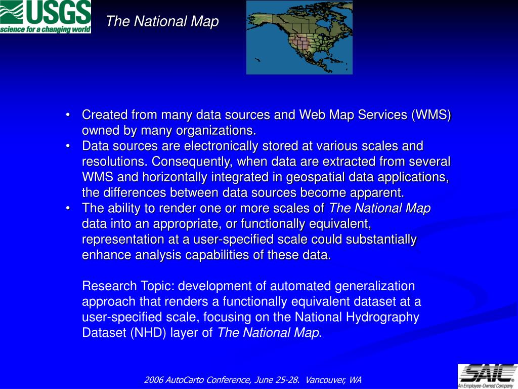 Created from many data sources and Web Map Services (WMS)