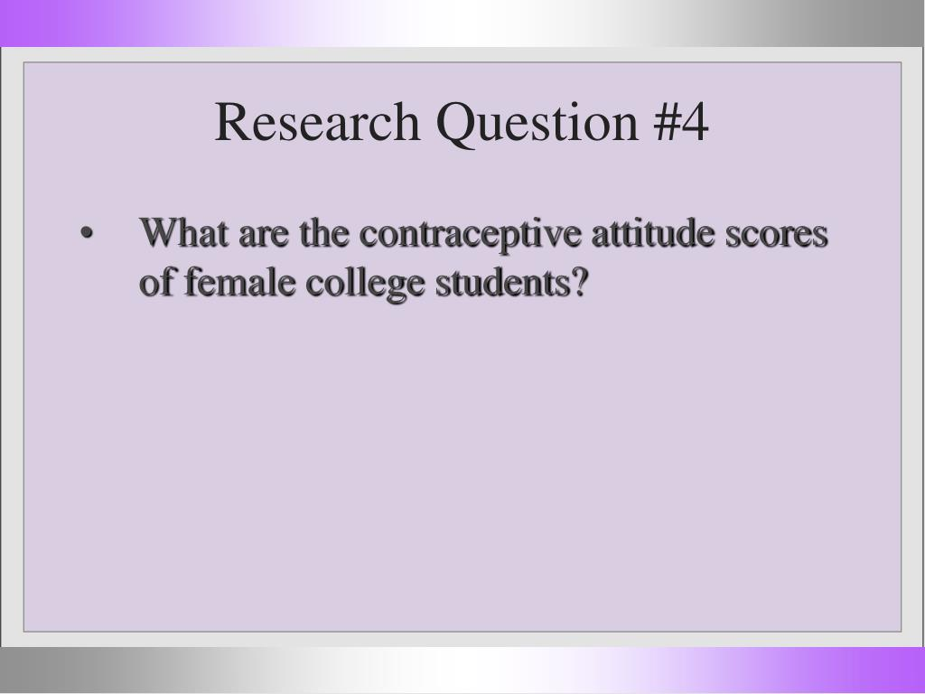 Research Question #4