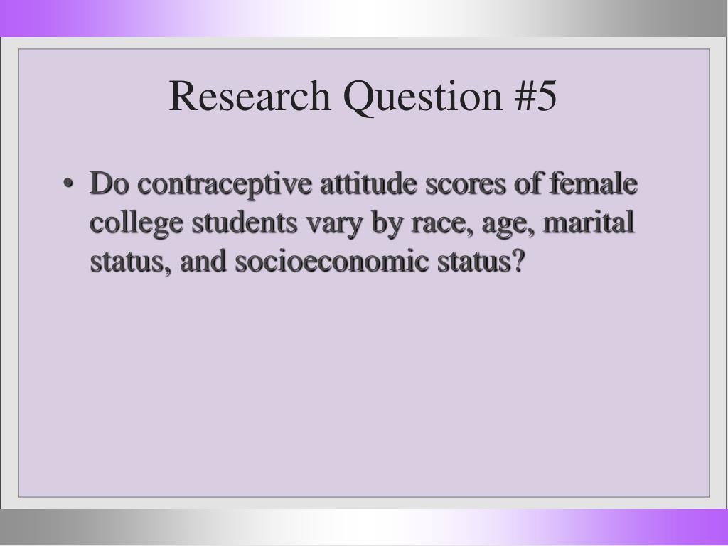 Research Question #5