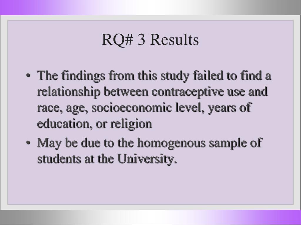 RQ# 3 Results