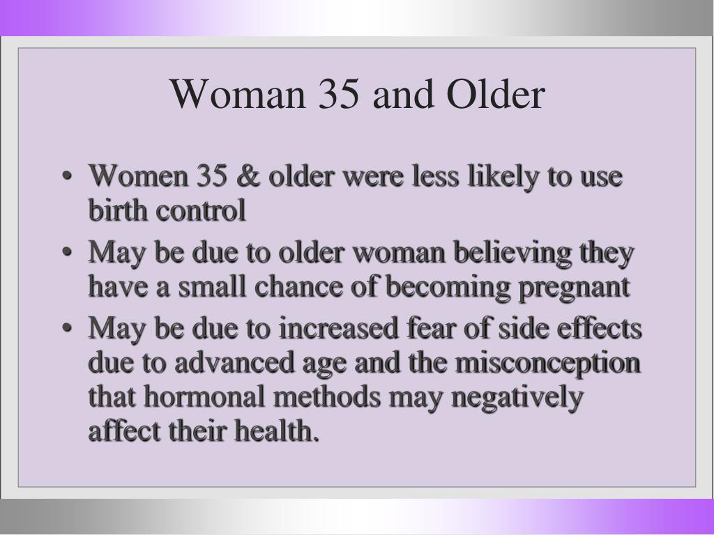 Woman 35 and Older